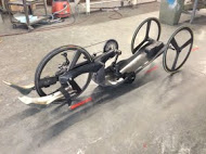Recumbent Bike, custom carbon project