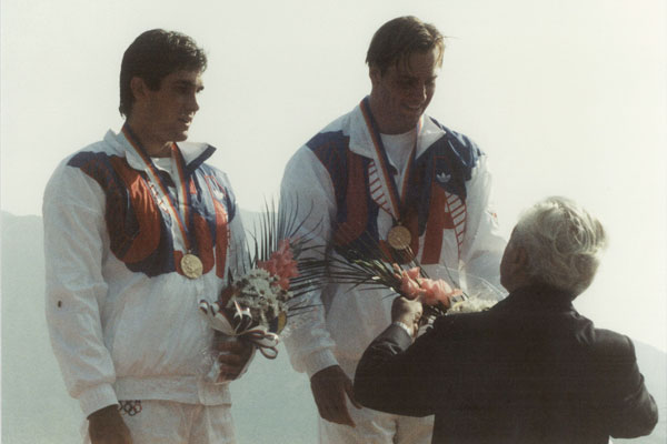 1988 Olympics Gold Medal winners, Barton and Bellingham